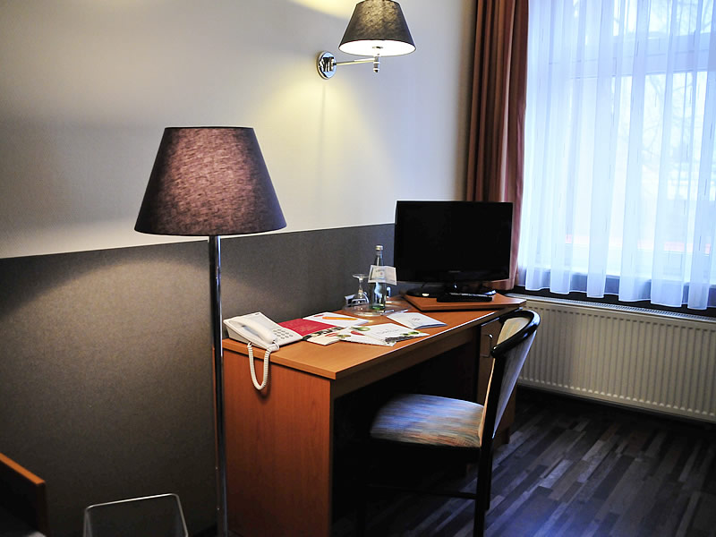 New Hotel room with desk